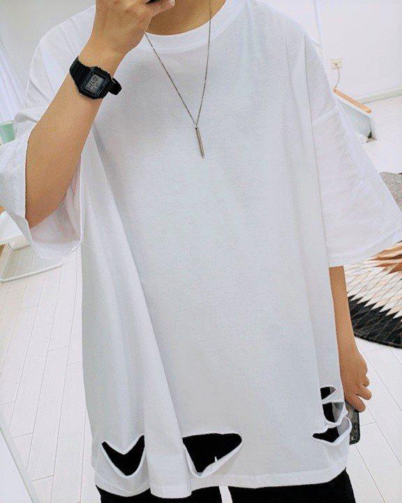 《2色》ベーシックダメージTシャツの画像1